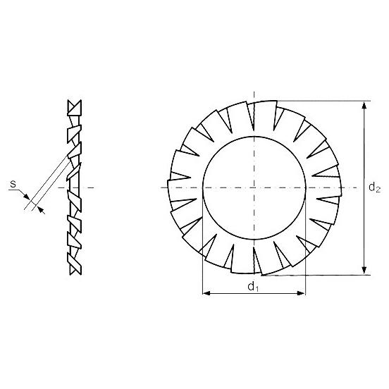 Шайба стопорная DIN 6798 разметка из китая от производителя